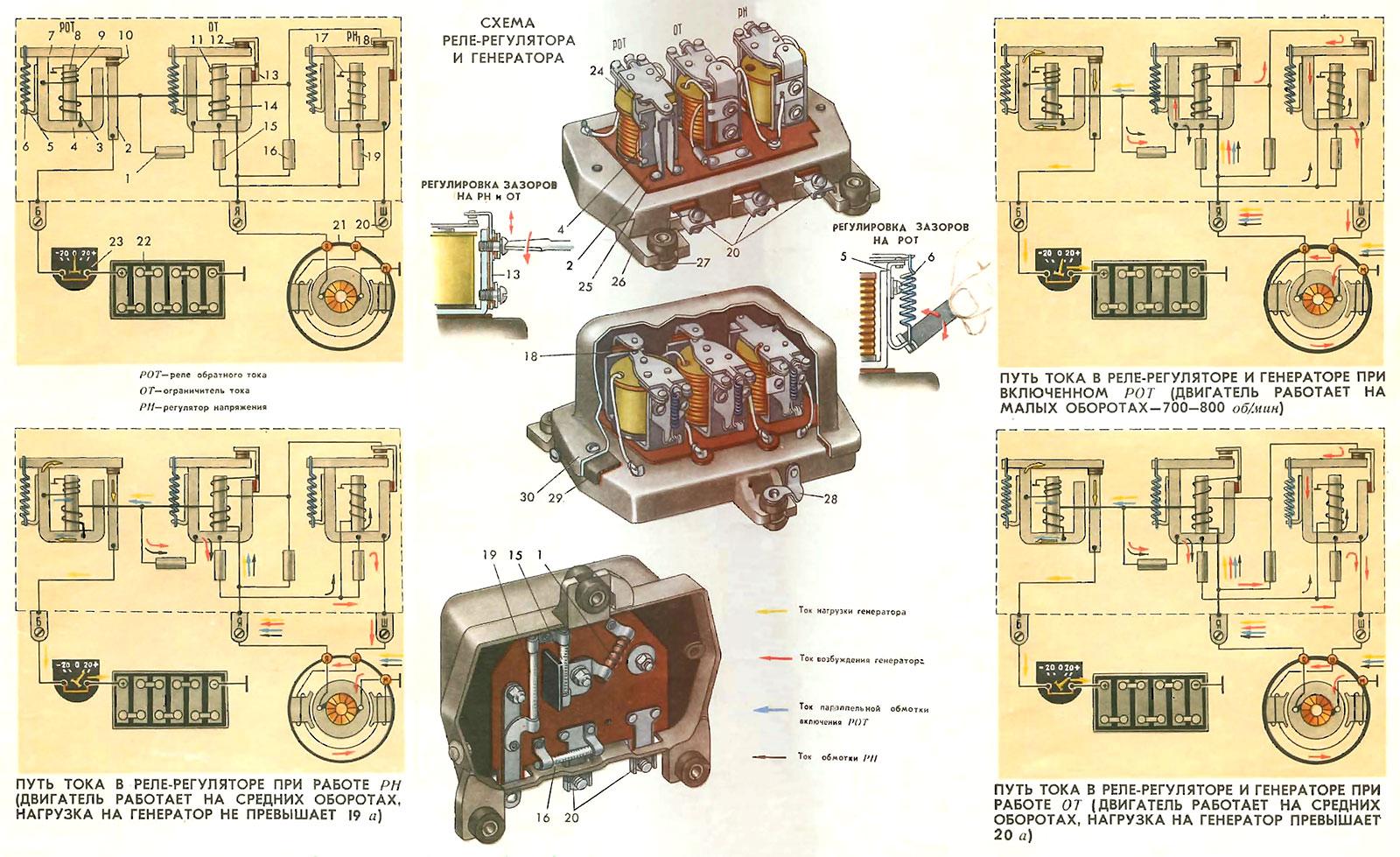 Схема для проверка реле регулятора напряжения6