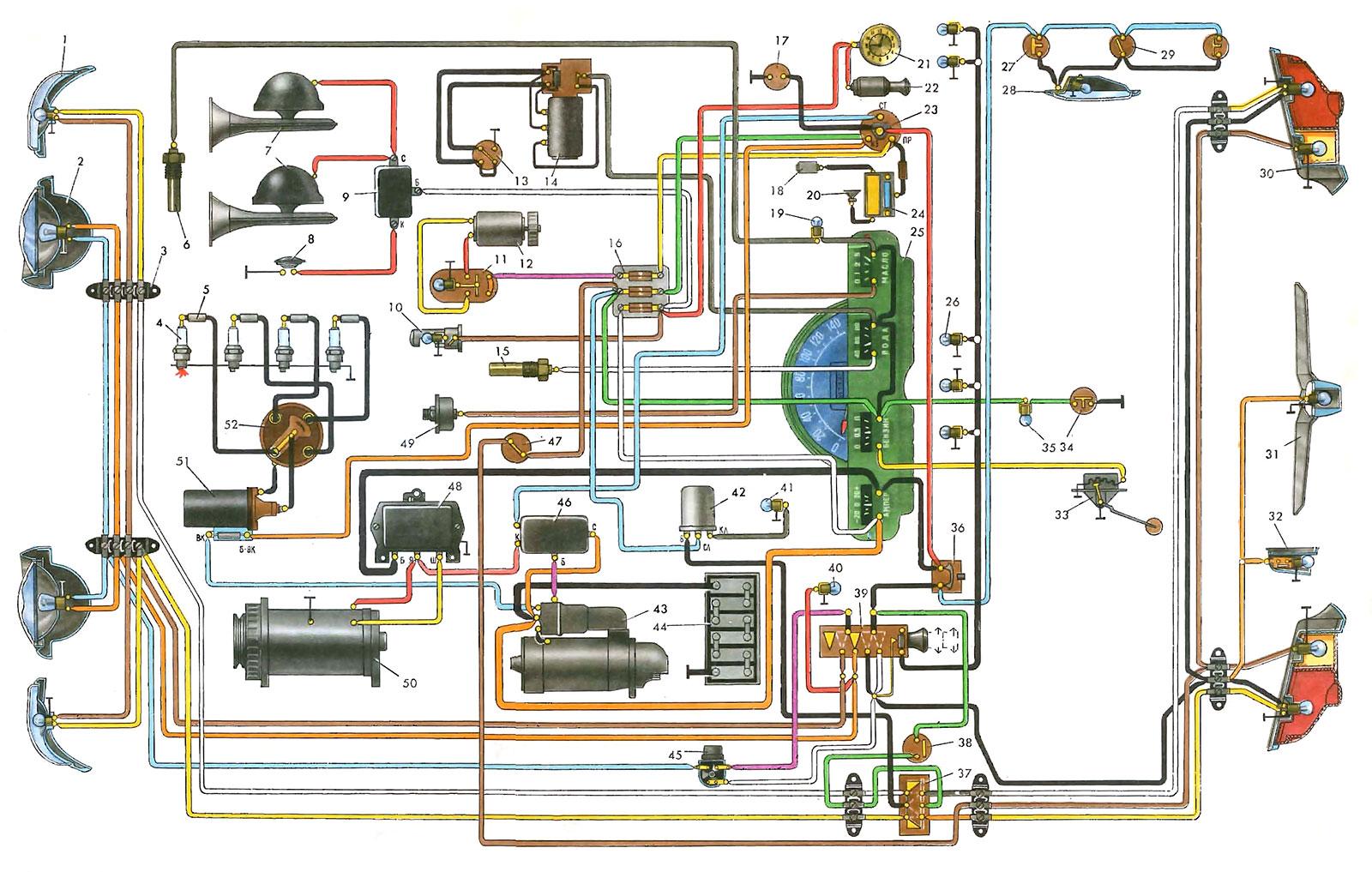 цветная схема электрооборудования